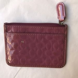 Coach change purse keychain